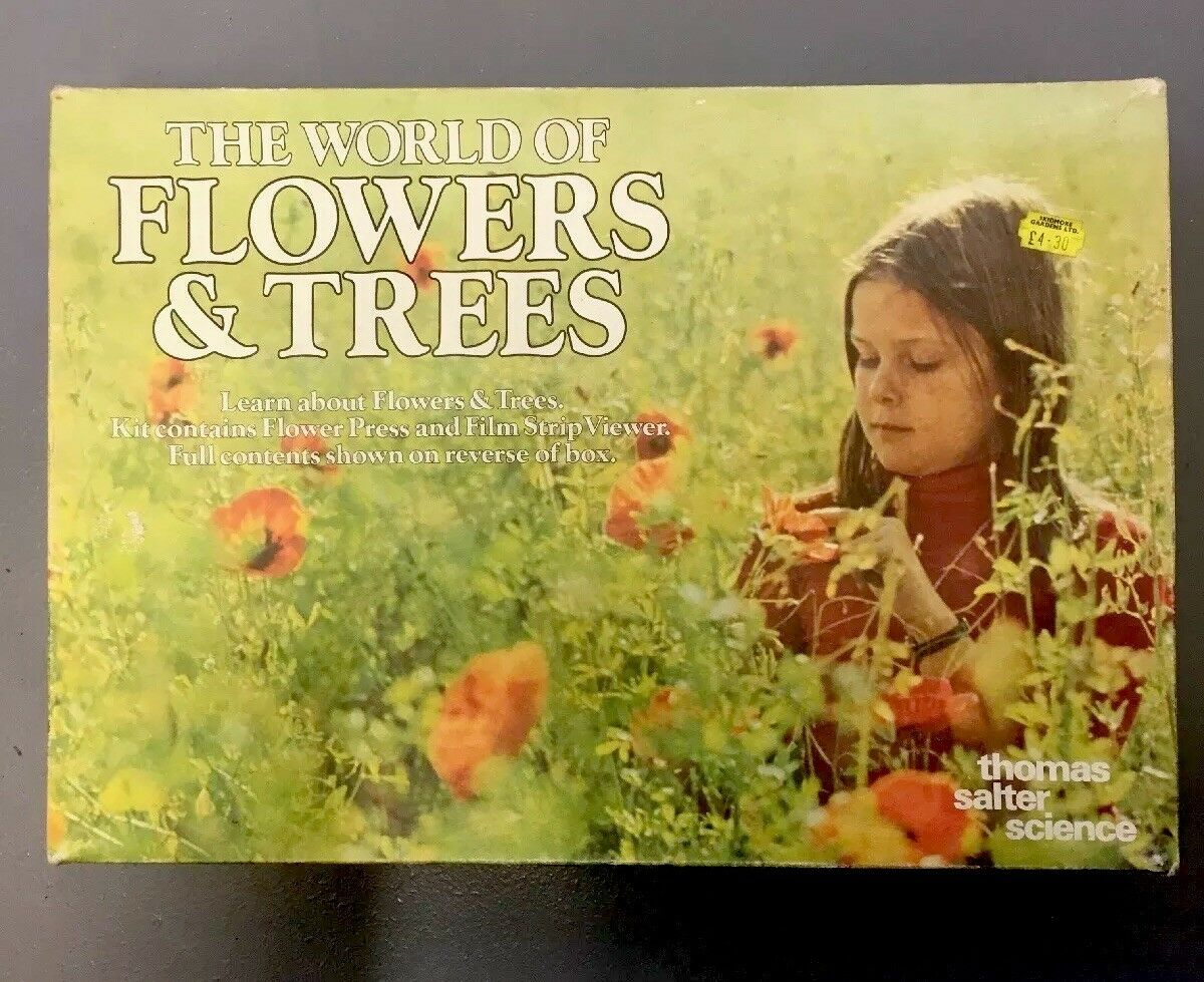 Vintage The World Of Flowers & Trees Thomas Salter Science 100% Complete Sealed