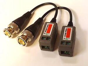 20xHD 720P 1080P CVI TVI AHD Video Balun Coax UTP to BNC CAT5e HD CCTV Camera