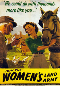 WB9-Vintage-WW2-Join-Womens-Land-Army-British-WWII-War-Poster-Re-Print-A4
