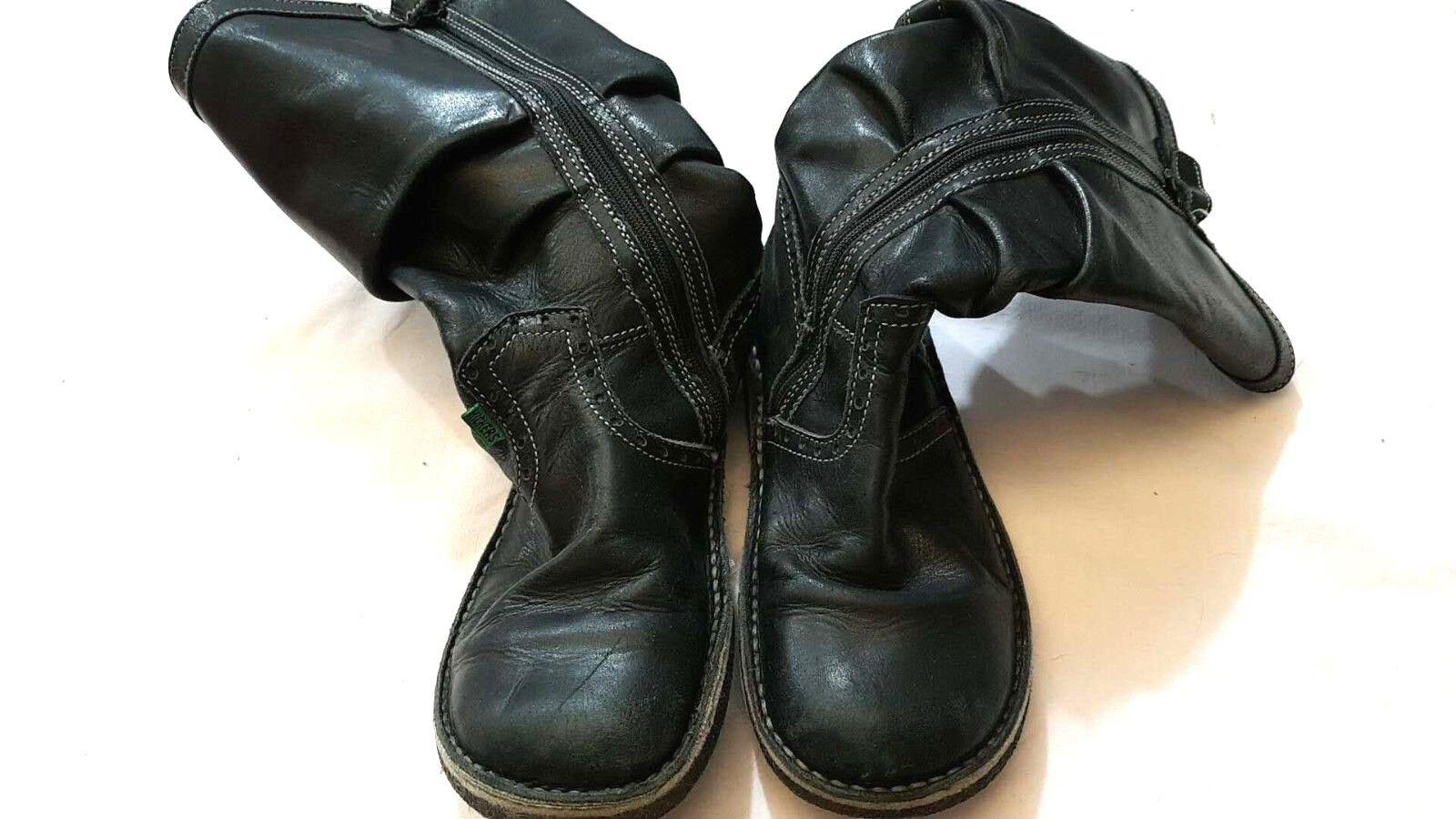 Kickers - Stivali - N° 34 35 - lunghi 24 cm - compreso tacco 30 cm - USATI
