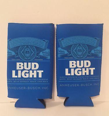 Bud Light Can Cooler 2-Pack Set of Two Koozies Neoprene Koozie Beer Soda  Hugger 818946029364 | eBay