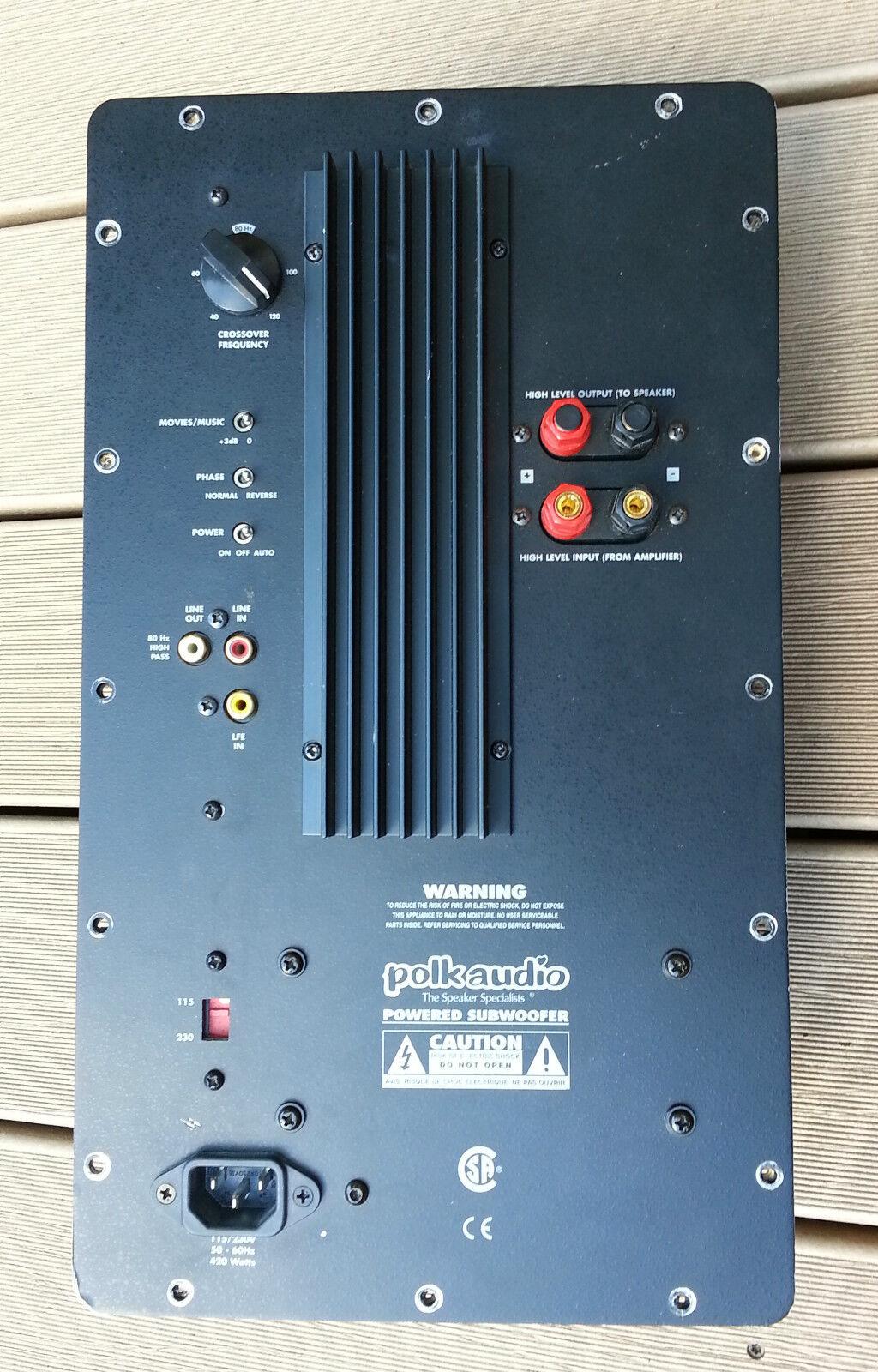 Polk RT3000p Powerot Subwoofer Amplifier Plate Repair Service