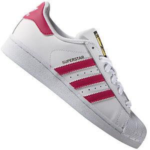 2426449182ab15 Das Bild wird geladen adidas-Originals-Superstar-Foundation-Weiss -Pink-B23644-Damen-