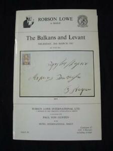 ROBSON-LOWE-AUCTION-CATALOGUE-1981-BALKANS-AND-LEVANT