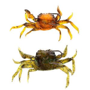 Attirail-de-Peche-Leurre-Souple-Crabe-Artificiel-Crochet-G3O9