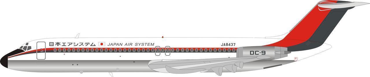 Inflight 200 WBDC94003 1 200 Japan Air System ( Jas ) DC-9-41 JA8437 con Soporte