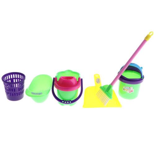 Mop Eimer, Reinigung Play Set Housekeeping Set 6 Stück Pretend Play Toy