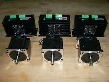 110vac Nema34 3 Axis Stepper Motordrive Kit 740 Ozin Cnc Router Milling Plasma