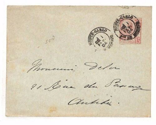BF252 1894 MONACO Monte Carlo FRANCE Antibes Cover