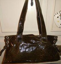 Italy Designer STEFANO DELLERA Green Leather Shoulder Bag Handbag Purse