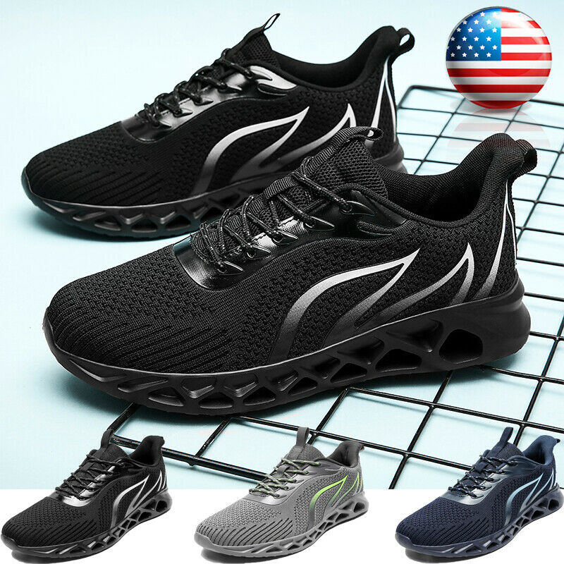 Men's Fashion Sports Running Tennis Shoes Lace Up Sneakers Atheltic Jogging Gym