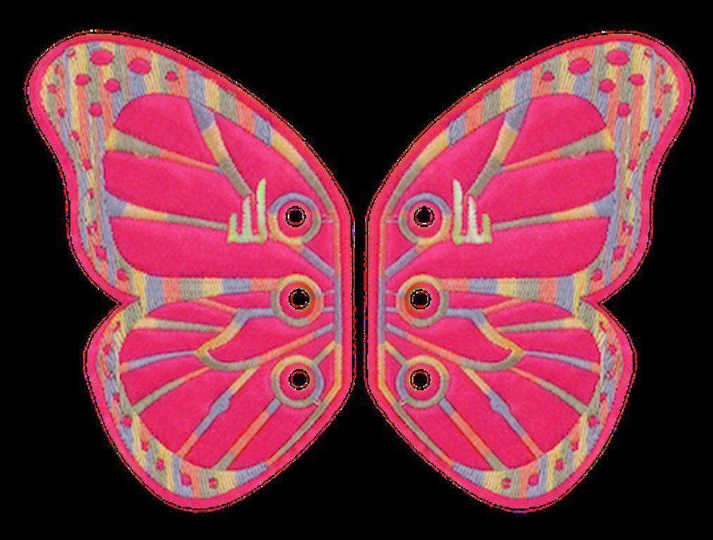 Shwings Shoe Accessories Silver Foil Butterfly
