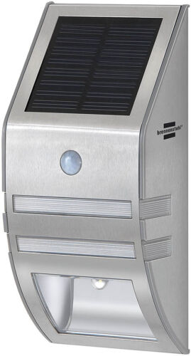 Brennenstuhl Solar LED-Wandleuchte SOL WL-02007 Edelstahl Bewegungsmelder