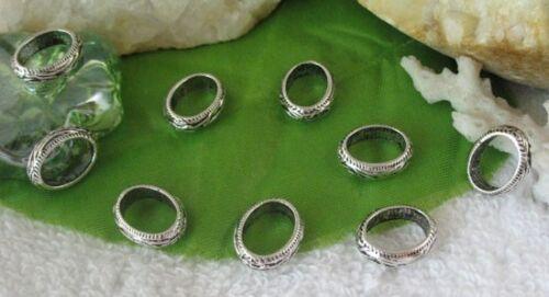 80pcs Tibetan silver oval connectors links FC10962