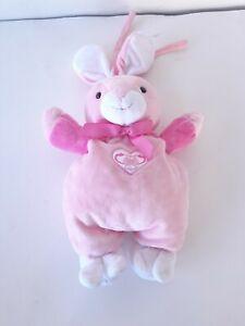 Small Wonders Sweet Heart Rabbit Crib Lovey Toy Musical Plush Bunny Rabbit