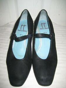 san francisco 6fa40 a5d9c Details about THIERRY RABOTIN Nubuck Leather Mary Jane Pumps Shoes Women's  Size 37.5 / 7.5