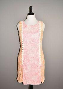 LILLY-PULITZER-JUBILEE-228-Tenley-Shift-Dress-Orange-Pink-Toile-Size-12