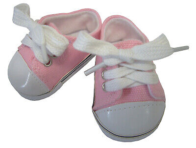Twins; Hot Pink Sneakers Canvas Gym Shoes Doll Clothes Fits Bitty Baby