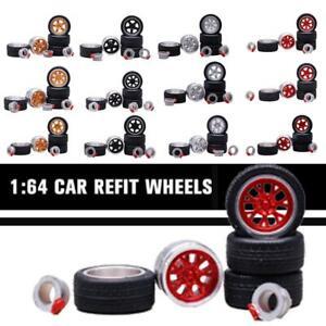 1-64-Neumaticos-P1-Racing-Plata-Llanta-Fit-Hot-Wheels-Mazda-Custom-Diecast-accessior