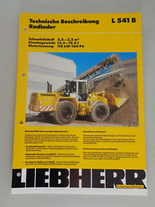 Data Sheet / Technical Description Liebherr Wheel Loader L 541 B Stand 01/1995
