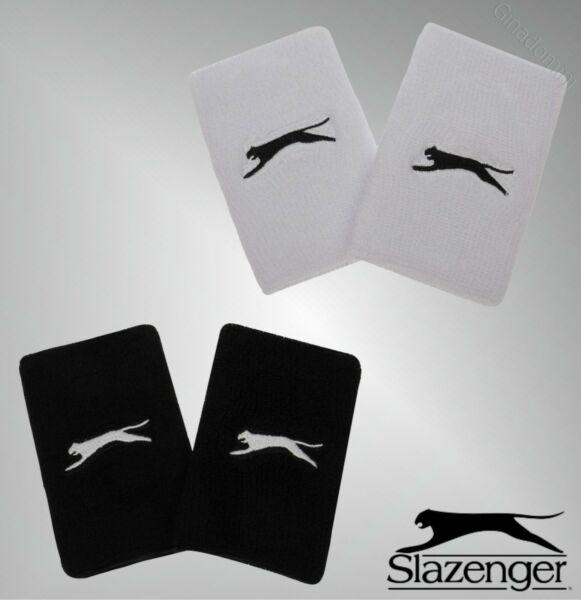 2 Pack Para Hombre Slazenger Logo Súper Absorbente De Construcción Doble Pulseras-ver