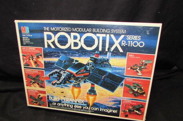 1985 1985 1985 MB  BUILDING SYSTEM  ROBOTIX   INTERCEPTOR &  LUNAR ROVER SERIES R-1100 7d81bf