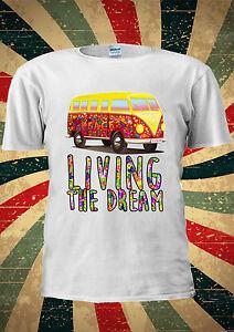 Camper Van Living The Dream Surf Festival T-Shirt Vest Top Men Women Unisex 2054