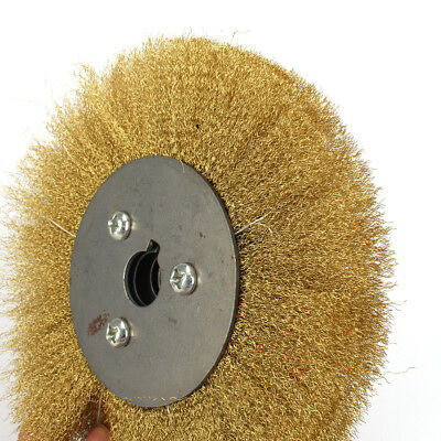 5 Copper Wire Wheel Soft Brass Brush For Bench Grinder Metal Polishing 125mm