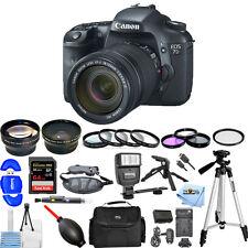 Canon EOS 7D Digital SLR Camera W/ EF-S 18-135mm IS Lens Kit!! MEGA BUNDLE NEW!!