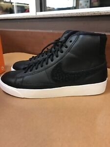 Women's Nike Blazer Mid Rebel black leather shoe size 10 | eBay