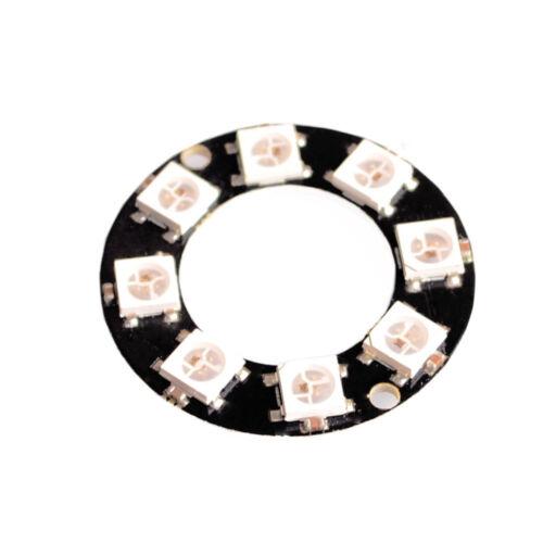 WS2812 8-Bit 5050 RGB LED Lamp Panel Round Ring LED Driver Development Board
