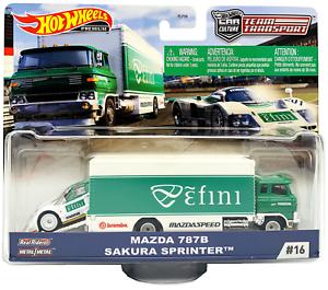 Set Team Transport Mazda 787B /& Sakura Sprinter 1:64 HotWheels
