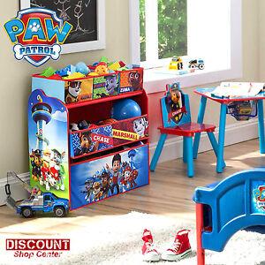 Details about Paw Patrol Organizer Bin Storage Box Kids Toy Children\'s  Bedroom Play Puppy Gift