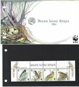 Ile-de-Man-5080cmENDANGERED-Especes-Oiseaux-Chanteurs-034-non-Montes-Mint-MNH