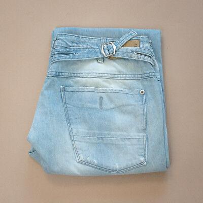 Vintage Gstar Medin Pant Loose Jeans Blu Chiusura Zip (labelw 31l32) W 31 L 32-mostra Il Titolo Originale