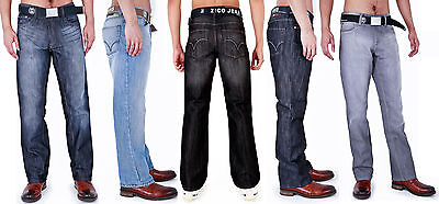 Mens Classic Jeans Regular Fit With Belt By Ad 28 - 40 42 44 46 48 50 52 54 Kunden Zuerst