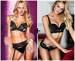 38 Victoria's D 5 Sexy amp; Piece Bra Or Seduction 34 Secret Silver C Black Set qRIEwwg