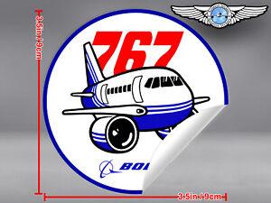 BOEING-767-B767-PUDGY-STYLE-ROUND-DECAL-STICKER