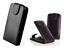 miniatuur 10 - Housse Etui Coque Luxe (CUIR NOIR) ~ HTC ONE X
