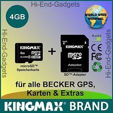 NEU MicroSD HC SD Karte - für alle BECKER GPS, Karten & Extras