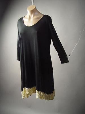Black Forest Mori Girl Dark Boho Crochet Doily Hem Trapeze 182 mv Dress S M L