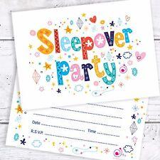 Pigiama Party Festa Compleanno Inviti-cartolina a6 DI DIMENSIONI (CONF. 10)