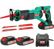 HYCHIKA 18V Cordless Electric Reciprocating Saw Kit with 2 Batteries 4 Blades