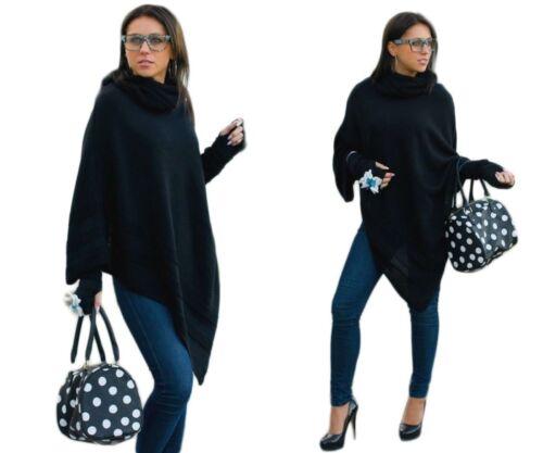 ponticelli con caldi maglione Guanti donna poncho da con a mantella Guanti Giacca ZfUfaqw