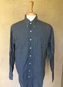 Cinch-Mens-Long-Sleeve-Shirt-Size-L-Plaids-amp-Checks-Color-Green-And-White