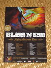 BLISS N ESO - FLYING COLOURS AUSTRALIAN TOUR - LAMINATED PROMO TOUR POSTER