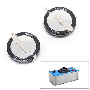 2Pcs 5.5 V 4.0F Super Capacitor V-Type Button Smart Capacitance component G ZTOS
