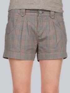 "Ragwear Short ""High A"", grau-blau kariert, Gr: W26 - W28"