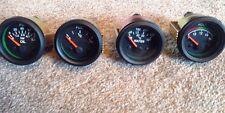 Kit de coche Dashboard Calibre Set - 52 mm Negro temperatura, voltios, Combustible, Aceite