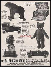 Publicité Citroen 10 HP Jouet Ancien Old Toy Pathé Baby Peluche ancienne ad 1926